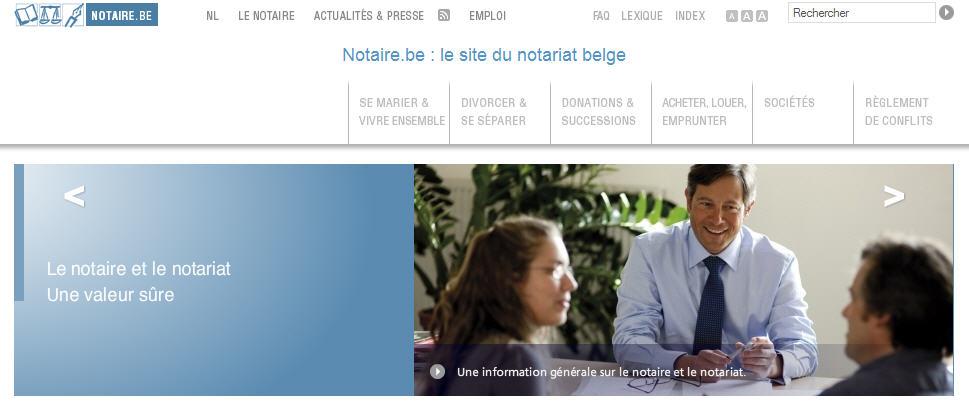 notaire belgique